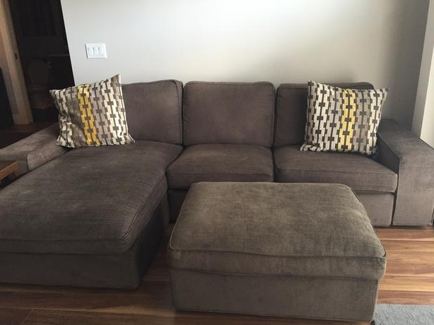 Peterborough Ontario Sectional Sofas Inside Best And Newest Ikea Kivik Sectional Sofa/chaise/ottoman (Couch) Central Saanich (View 5 of 10)