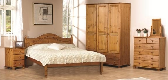 Pine Furniture – Pine Bedroom Furniture – Solid Wooden Furniture Inside Favorite White And Pine Wardrobes (View 9 of 15)