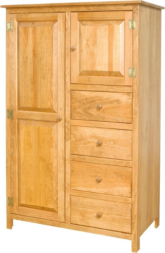 Pine Wood Wardrobe Armoire From Dutchcrafters Amish Furniture In Current Wood Wardrobes (View 12 of 15)