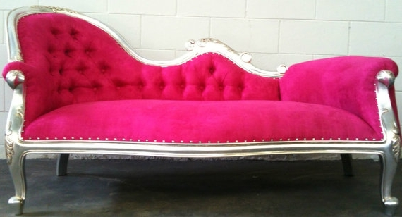 Pink Chaises Regarding 2018 Elly Chaise Longue Rich Purple Large Sofa. Just Beautiful (View 9 of 15)