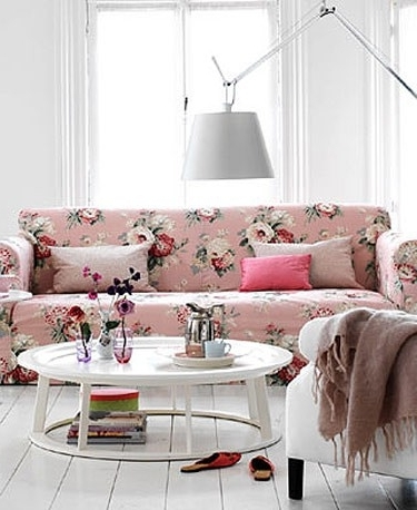Pink Chintz Pendant Lamp, Modern Country Farmhouse Cottage Chic Inside Most Up To Date Chintz Covered Sofas (View 9 of 10)