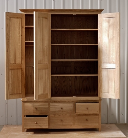 Featured Photo of Oak Wardrobes With Drawers And Shelves