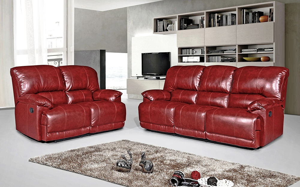 Pippa 2 Seater Leather Reclining Sofa – Red – We Do Sofas Inside Current Red Leather Reclining Sofas And Loveseats (View 5 of 17)