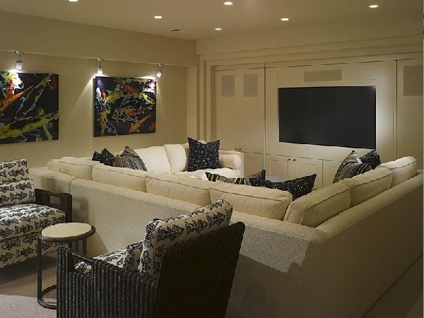 Pit Sectional – Contemporary – Media Room In Fashionable Media Room Sectional Sofas (View 8 of 10)