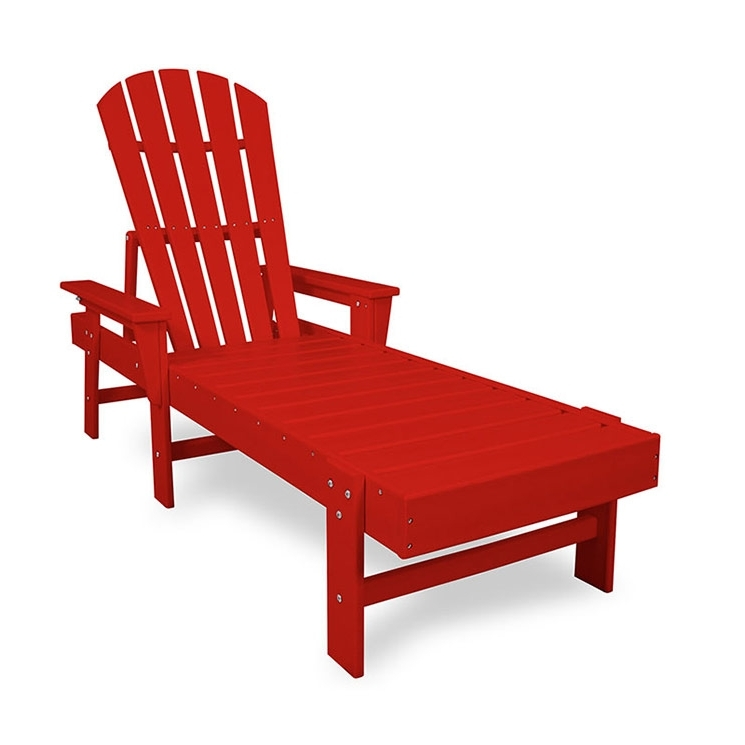 Polywood Recycled Plastic Adirondack Style Chaise Lounge With Regard To 2017 Beach Chaise Lounge Chairs (View 12 of 15)