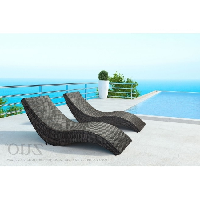 Popular Beach Chaise Lounges Within 703839 – Hassleholtz Beach Chaise Lounge Brown (View 13 of 15)