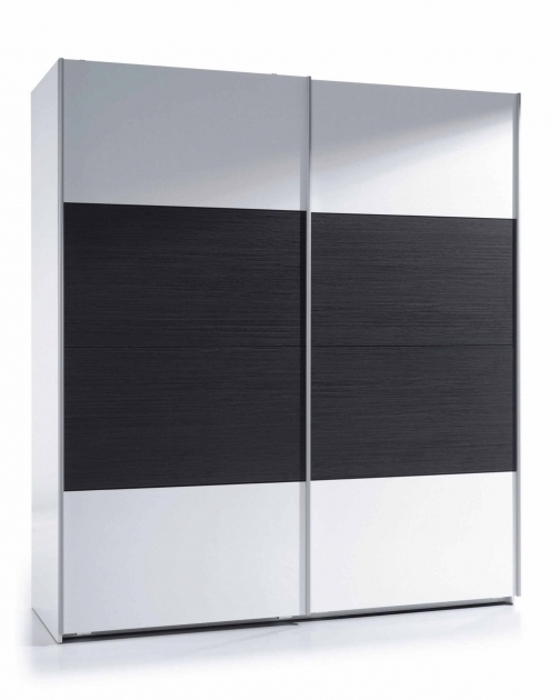 Popular Black And White Wardrobe Napoli Black Wood And White Gloss Sliding Within Black Wood Wardrobes (View 13 of 15)