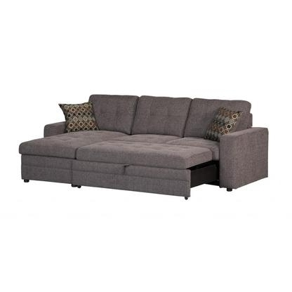 Popular Chaise Sofa Sleepers Throughout Sleeper Sofa With Chaise And Storage – Foter (View 9 of 15)