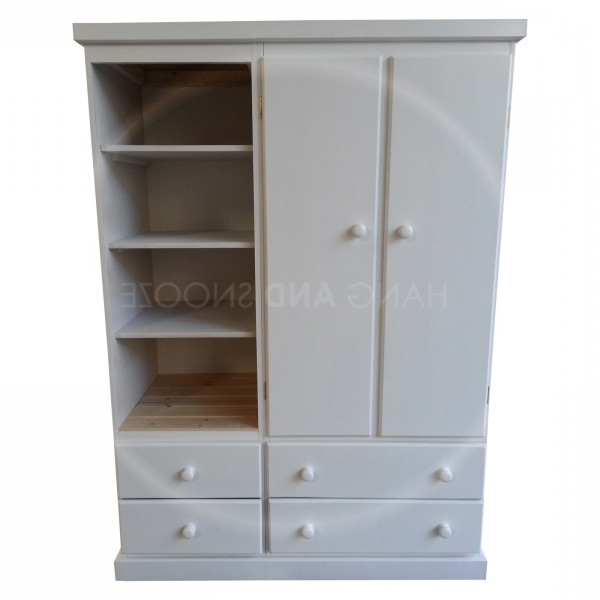 Popular Childrens Wardrobes With Drawers And Shelves With Regard To 4 Drawer Wardrobe With Bookcase (View 11 of 15)