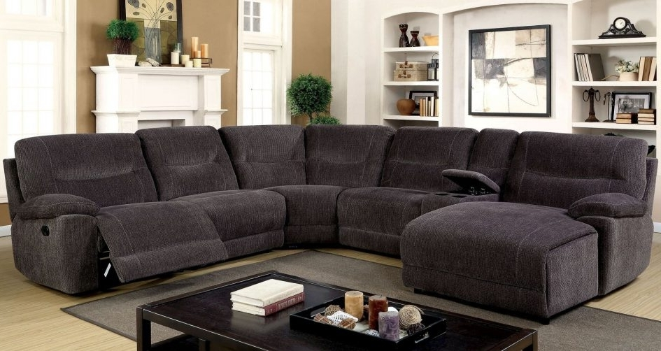 Popular Couch With Chaise And Recliner Leather Sofa Set Fabric Sectional Intended For Reclining U Shaped Sectionals (View 4 of 10)