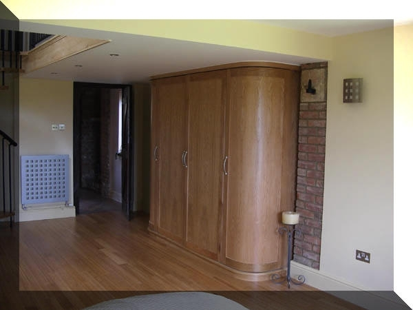 Popular Curved Wardrobes Doors With Fitted Bespoke Furniture, Display Cabinets, Secret Drawers (View 14 of 15)