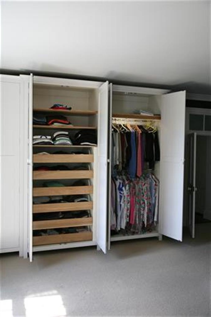 Popular Double Clothes Rail Wardrobes Intended For Wardrobes (View 10 of 15)