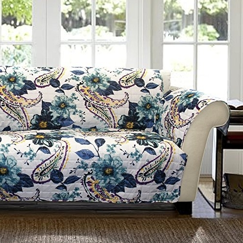 Popular Floral Loveseat Slipcovers: Amazon Pertaining To Chintz Floral Sofas (View 8 of 10)