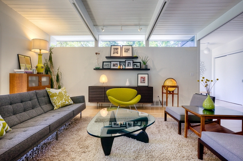 Popular Florence Knoll Sofa Living Room Midcentury With Barcelona Chairs With Regard To Florence Knoll Living Room Sofas (View 8 of 10)