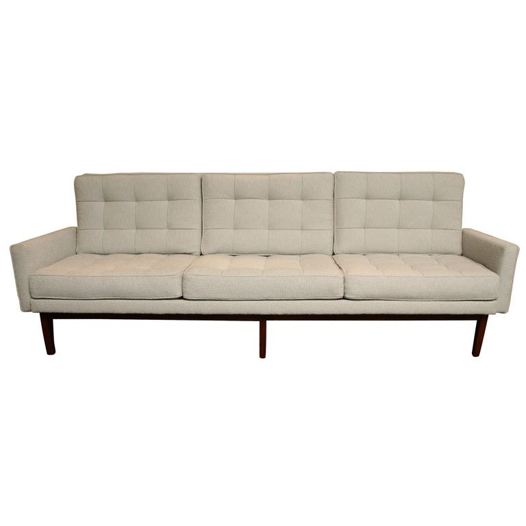 Popular Florence Knoll Wood Legs Sofas Intended For Classic Florence Knoll 57W Sofa At 1Stdibs (View 9 of 10)