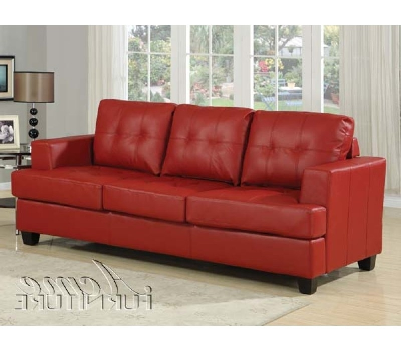 Popular Great Red Leather Sleeper Sofa Red Leather Sleeper Sofa In Red Sleeper Sofas (View 6 of 10)