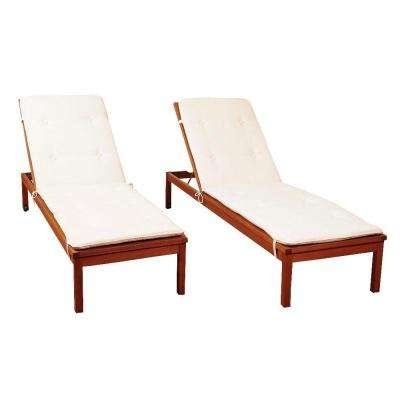 Popular Home Depot Chaise Lounges With Teak – Outdoor Chaise Lounges – Patio Chairs – The Home Depot (View 8 of 15)