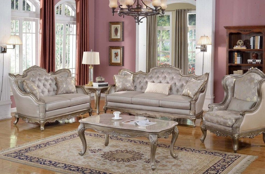 Popular Impressive Elegant Formal Living Room Furniture Cabinet Hardware With Elegant Sofas And Chairs (View 4 of 10)