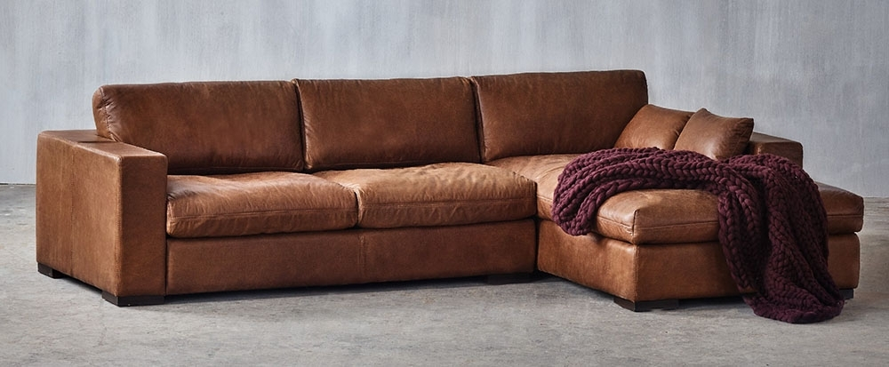 Popular Leather Couches With Chaise Inside Sectional Sofas (View 8 of 15)