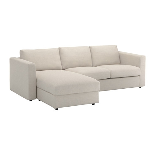 Popular Loveseat Chaises Regarding Vimle Sofa – With Chaise/gunnared Beige – Ikea (View 12 of 15)