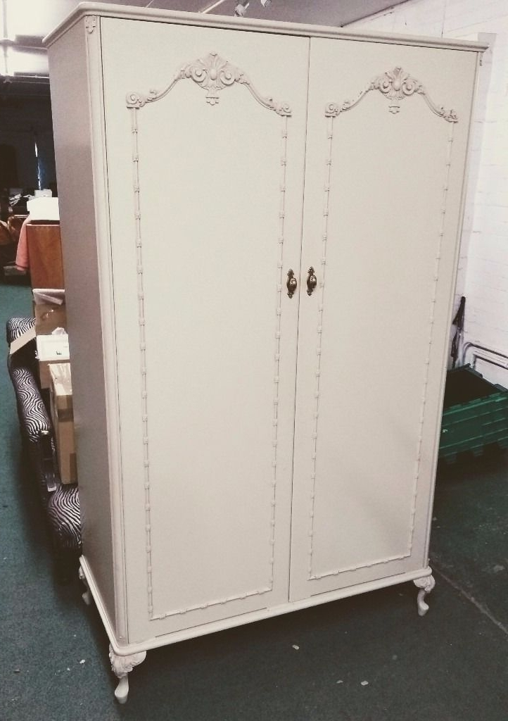 Popular Olympus Pale Cream Double Wardrobe – Louis/shabby Chic Style Intended For Shabby Chic Wardrobes For Sale (View 7 of 15)