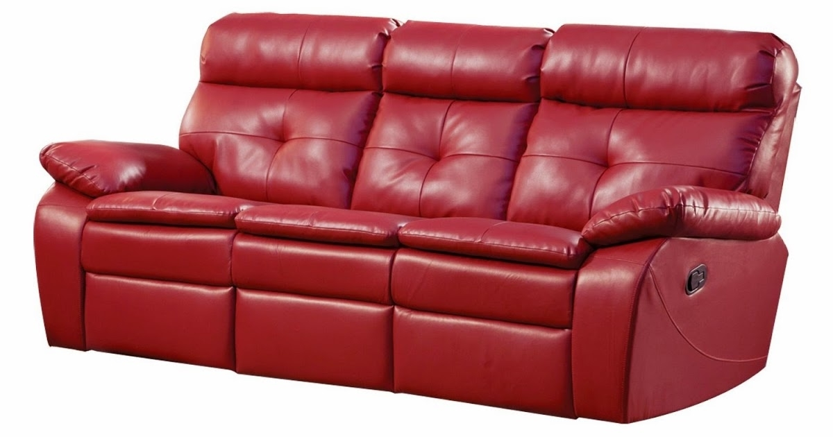 Popular Red Leather Reclining Sofas And Loveseats In The Best Reclining Sofa Reviews: Red Leather Reclining Sofa And (View 16 of 17)