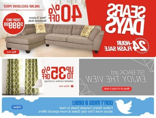 Popular Sectional Sofas At Sears With Sectional Sofas : Sears Sectional Sofa – Belleville Sectional Sofa (View 5 of 10)