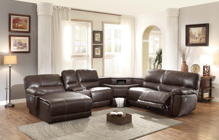 Popular Sectional Sofas With Consoles Pertaining To Top 10 Best Reclining Sofas (2018) (View 9 of 10)