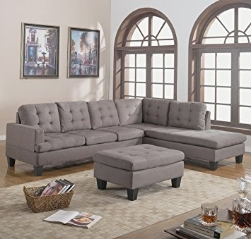 Popular Sectional Sofas With Ottoman Throughout Amazon: Divano Roma Furniture 3 Piece Reversible Chaise (View 5 of 10)