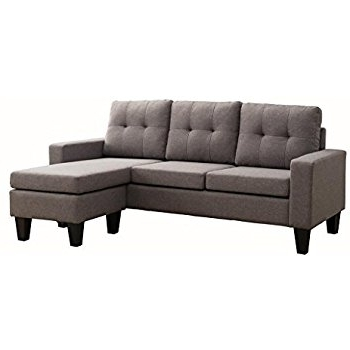 Popular Sofas With Reversible Chaise Lounge Throughout Amazon: Milton Greens Stars Douglas Sectional Sofa With (View 11 of 15)