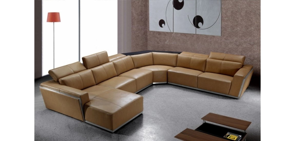 Popular U Shaped Leather Sectional Sofas With Regard To U Shaped Sofa Design Comfortable : Into The Glass – Appealing U (View 4 of 10)