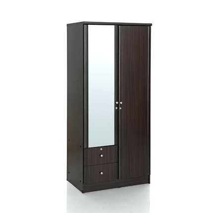 Popular Wardrobes: Two Door Wardrobe With Mirror (View 12 of 15)
