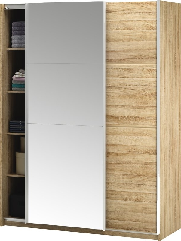 Popular Wardrobes With 2 Sliding Doors In Home Etc Glass 2 Door Sliding Wardrobe & Reviews (View 10 of 15)