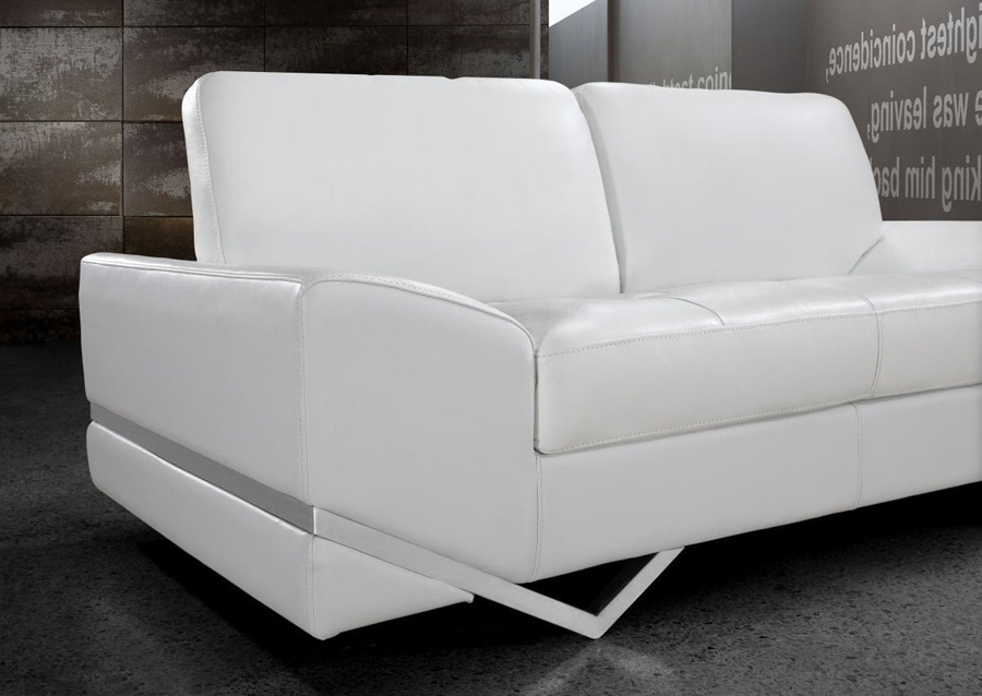 Popular White Modern Sofas For Inspirations Contemporary White Leather Sofa With Home Sofas White (View 5 of 10)