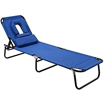 Portable Outdoor Chaise Lounge Chairs Throughout Most Recently Released Amazon: Goplus Folding Chaise Lounge Chair Bed Outdoor Patio (View 7 of 15)