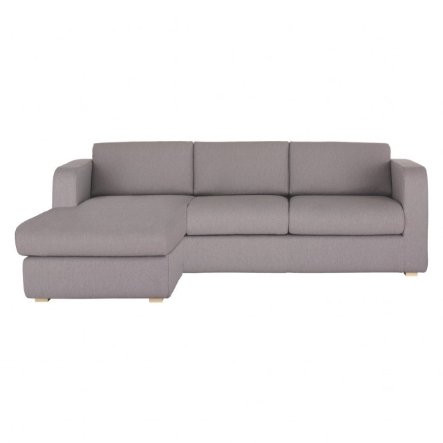 Porto Grey Fabric Reversible Chaise Sofa Bed (View 8 of 15)