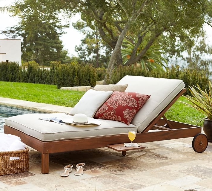 Pottery Barn For Outdoor Double Chaise Lounges (Gallery 2 of 15)
