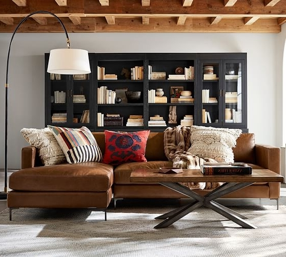 Pottery Barn In Best And Newest Leather Couches With Chaise (View 12 of 15)