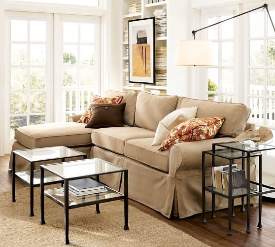 Pottery Barn Pertaining To Favorite Slipcovered Sofas With Chaise (View 5 of 15)