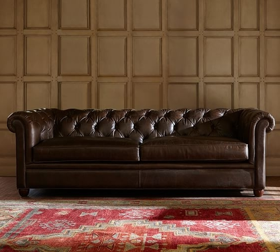 Pottery Barn Within Famous Leather Chesterfield Sofas (View 7 of 10)