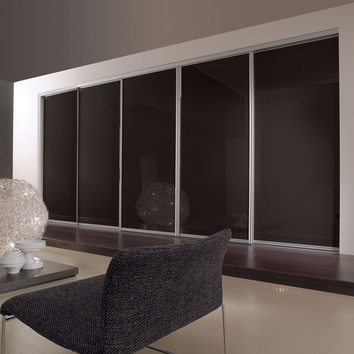 Preferred 5 Sliding Wardrobe Doors And Track Set Throughout Black Sliding Wardrobes (View 12 of 15)