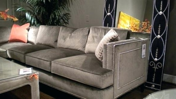 Preferred Awesome Grey Sectional Sofa With Nailhead Trim Purobrand Co Regarding Sectional Sofas At Buffalo Ny (View 6 of 10)