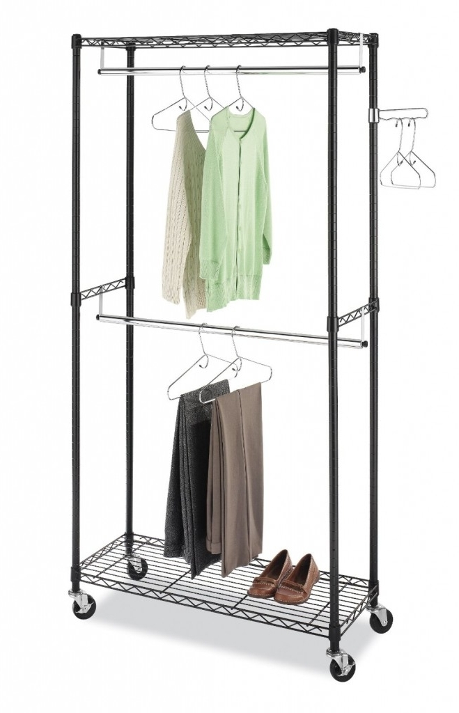 Preferred Best Heavy Duty Rolling Garment(Clothes) Racks Reviews Regarding Double Clothes Rail Wardrobes (View 12 of 15)