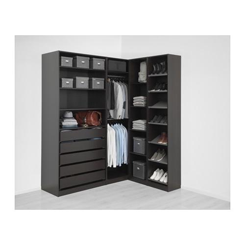 "Preferred Black Corner Wardrobes Intended For Pax Corner Wardrobe – 63 1/8/73 7/8X93 1/8 "" – Ikea (View 14 of 15)"
