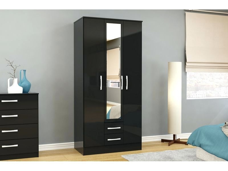 Preferred Black Gloss Mirror Wardrobes For Wardrobes ~ Black Mirror Sliding Wardrobe Doors Black Gloss Mirror (View 13 of 15)