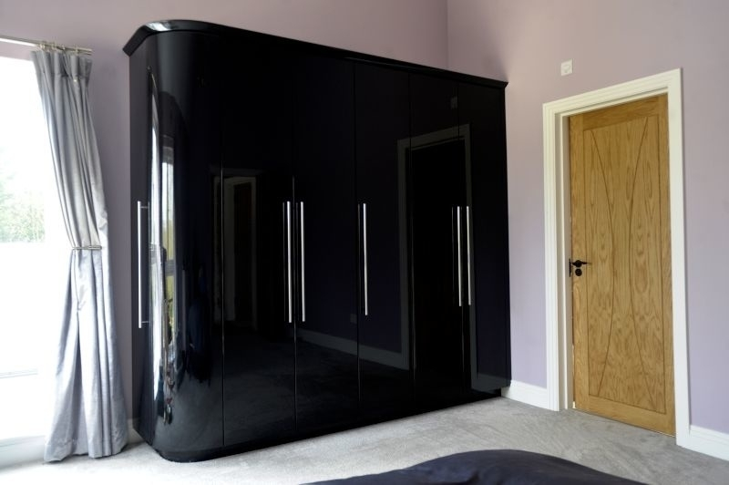 Preferred Black High Gloss Wardrobes Throughout High Gloss Finish Wardrobes In Kent (View 7 of 15)