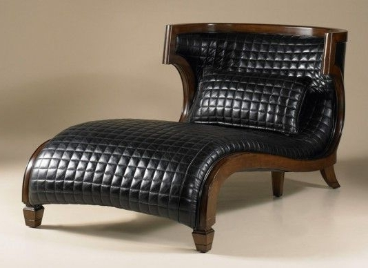 Preferred Black Leather Chaise Lounges Intended For Bentley Black Leather Chaise From Maitland Smith Chaise Lounge (View 7 of 15)