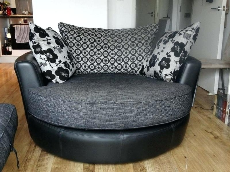 Preferred Black Leather Swivel Sofa Chair Couch Cuddle Design Awesome In In Swivel Sofa Chairs (View 6 of 10)