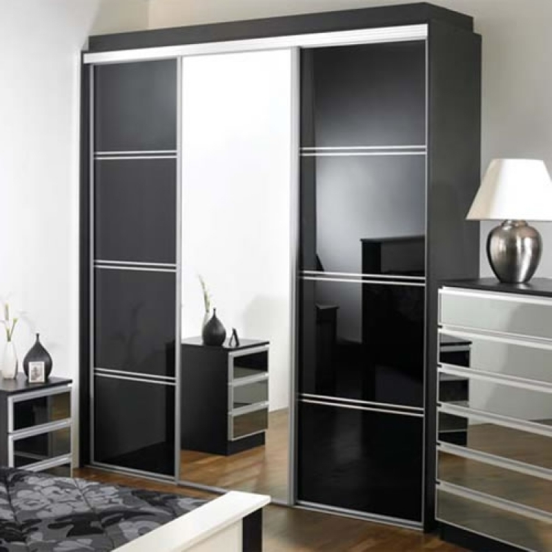 Preferred Black Sliding Wardrobe (View 13 of 15)