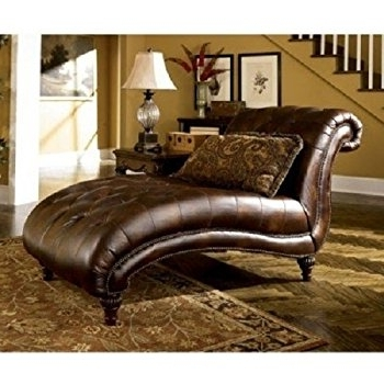 Preferred Brown Chaise Lounges Within Amazon: Antonina Plush Tufted Traditional Chaise Lounge (brown (View 9 of 15)